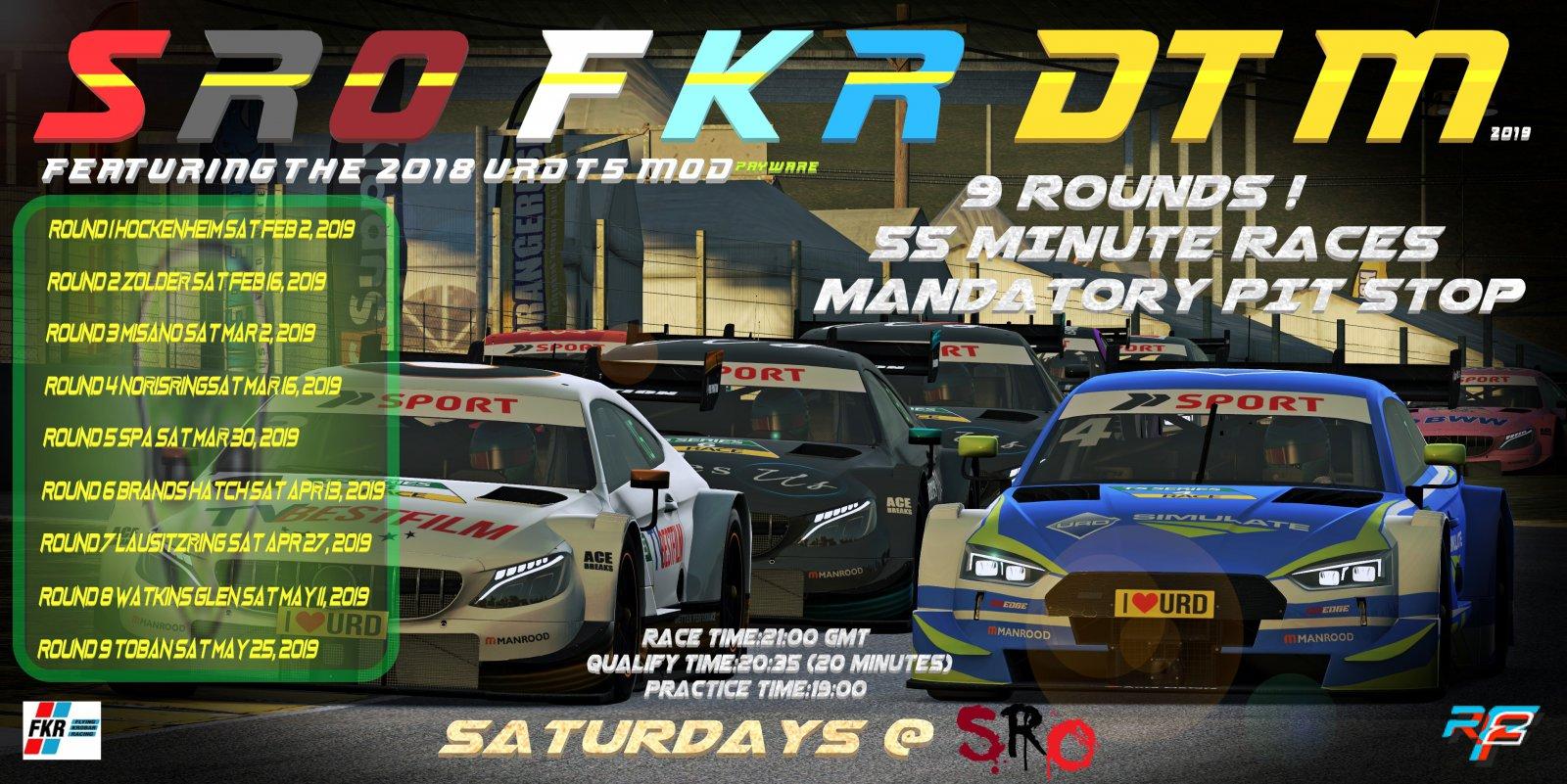 rFactor 2 - SRO FKR 2019 DTM Info | Sim Racing Online