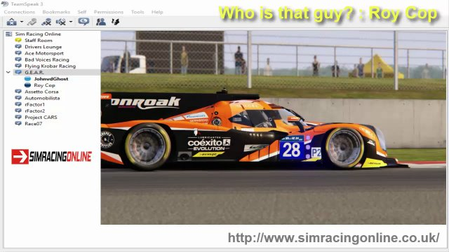 Sim Racing Online & Who is that guy? & Roy Cop