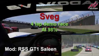 Sveg - RSS GT1 - 4 lap demo race