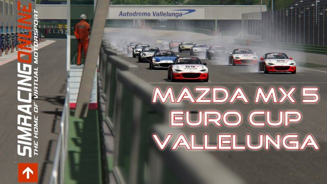 SRO Mazda MX5 Cup - Race 4 - Vallelunga - Assetto Corsa - Simracingonline.co.uk
