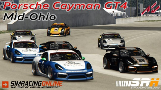 Porsche Cayman GT4 - Mid-Ohio - Assetto Corsa - SimRacingOnline.co.uk
