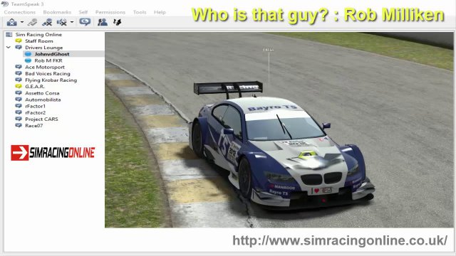Sim Racing Online & Who is that guy? & Rob Milliken