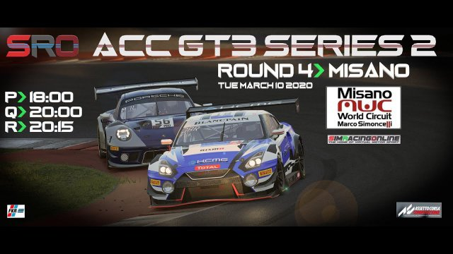 AMR V8 Vantage GT3 - Misano - ACC - SimRacingOnline.co.uk ( 2nd part wet race)