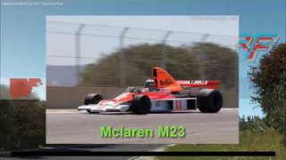 rF2 DNF series promo - F1 Mclaren M23 & demo race Bridgehampton